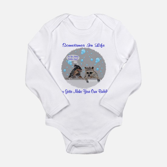 Are You Making Bubbles Again Long Sleeve Infant Bo