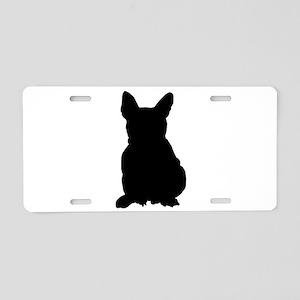 French Bulldog Silhouette Aluminum License Plate