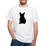 French Bulldog Silhouette White T-Shirt