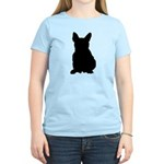 French Bulldog Silhouette Women's Light T-Shirt