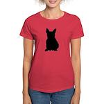 French Bulldog Silhouette Women's Dark T-Shirt