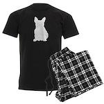 French Bulldog Silhouette Men's Dark Pajamas