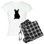 French Bulldog Silhouette Women's Light Pajamas