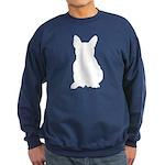 French Bulldog Silhouette Sweatshirt (dark)