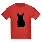 French Bulldog Silhouette Kids Dark T-Shirt