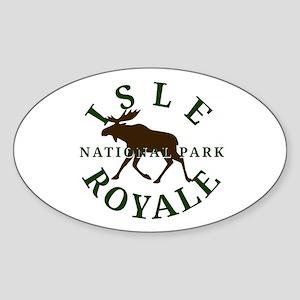 Isle Royale National Park Sticker (Oval)