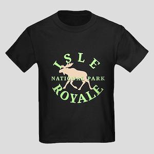 Isle Royale National Park Kids Dark T-Shirt