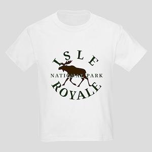 Isle Royale National Park Kids Light T-Shirt