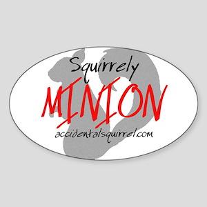Squirrely Minion Sticker (Oval)