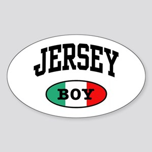 Italian Jersey Boy Oval Sticker