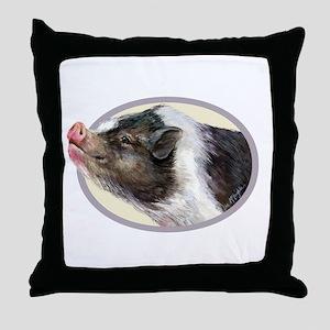 Potbellied Pigs Throw Pillow