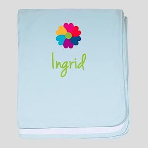 Ingrid Valentine Flower baby blanket