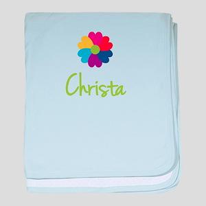 Christa Valentine Flower baby blanket