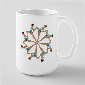 Synchronized swimming Large Mug