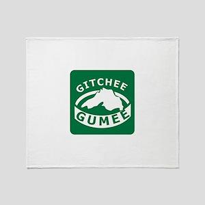 Gitchee Gumee - Lake Superior Throw Blanket
