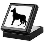 German Shepherd Silhouette Keepsake Box