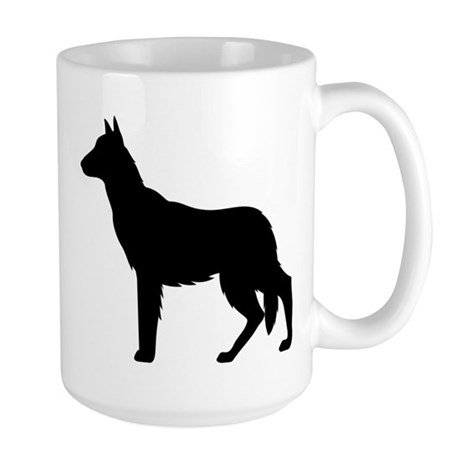 German Shepherd Silhouette Large Mug