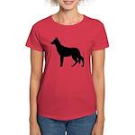 German Shepherd Silhouette Women's Dark T-Shirt