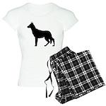German Shepherd Silhouette Women's Light Pajamas