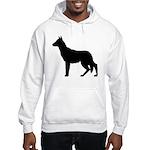 German Shepherd Silhouette Hooded Sweatshirt