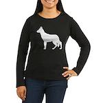 German Shepherd Silhouette Women's Long Sleeve Dar