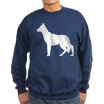 German Shepherd Silhouette Sweatshirt (dark)