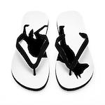 German Shepherd Silhouette Flip Flops