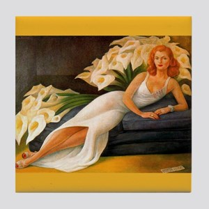 Diego Rivera Natasha Gelman Art Tile Coaster