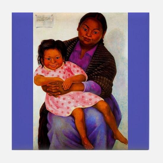 Diego Rivera Modesta e Inesita Art Tile Coaster