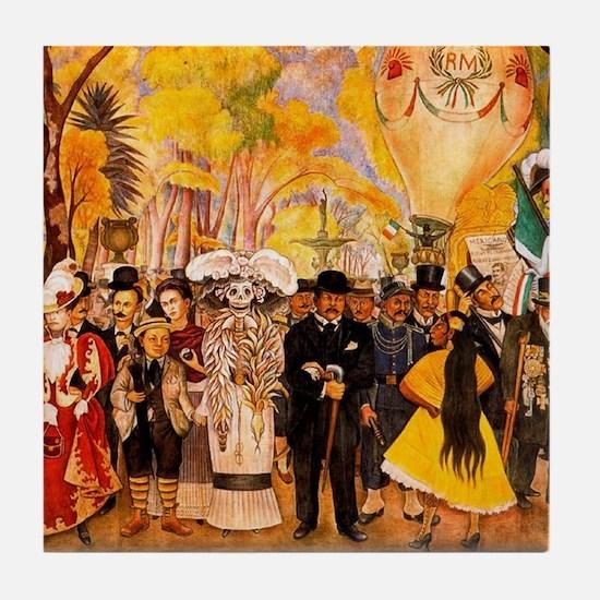 Diego Rivera Sunday at Alameda Art Tile Coaster