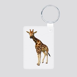 The Giraffe Aluminum Photo Keychain