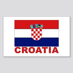 Croatia Flag Rectangle Sticker