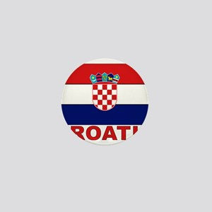 Croatia Flag Mini Button