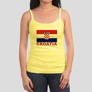 Croatia Flag Jr. Spaghetti Tank