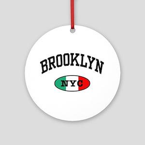 Italian Brooklyn NYC Ornament (Round)
