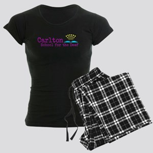 Carlton School for the Deaf Women's Dark Pajamas