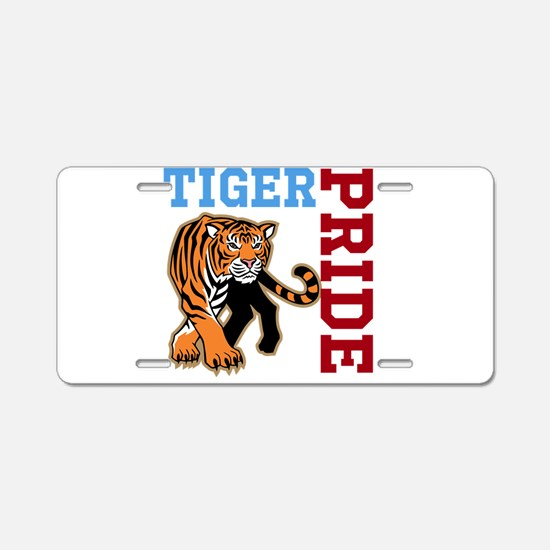 Tiger Pride Aluminum License Plate