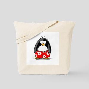 Swim Trunk Penguin Tote Bag