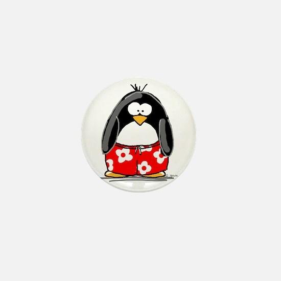 Swim Trunk Penguin Mini Button