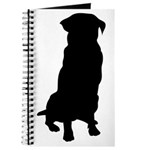Golden Retriever Silhouette Journal