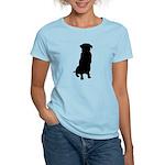 Golden Retriever Silhouette Women's Light T-Shirt