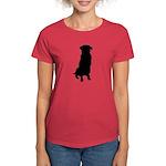 Golden Retriever Silhouette Women's Dark T-Shirt