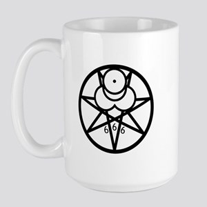 Mark of the Beast Large Mug - b/w
