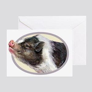 Potbellied Pigs Greeting Card
