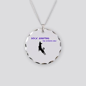 dock jumping 2 Necklace Circle Charm