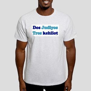 Dos Judiyos, Tres Kehilot Ash Grey T-Shirt