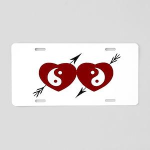 Tao Heart Aluminum License Plate
