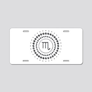 Scorpio Studs Aluminum License Plate