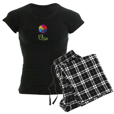 Elise Valentine Flower Women's Dark Pajamas