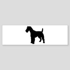 Fox Terrier Silhouette Sticker (Bumper)